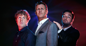 Josh Widdicombe, Adam Hills and Alex Brooker in The Last Leg