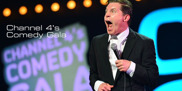 Lee Evans performing at the Channel 4 Comedy Gala